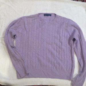 J. McLaughlin cashmere & cotton cable knit sweater